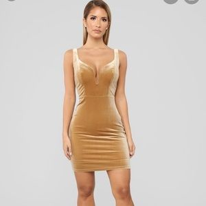 Fashion nova mustard suede dress